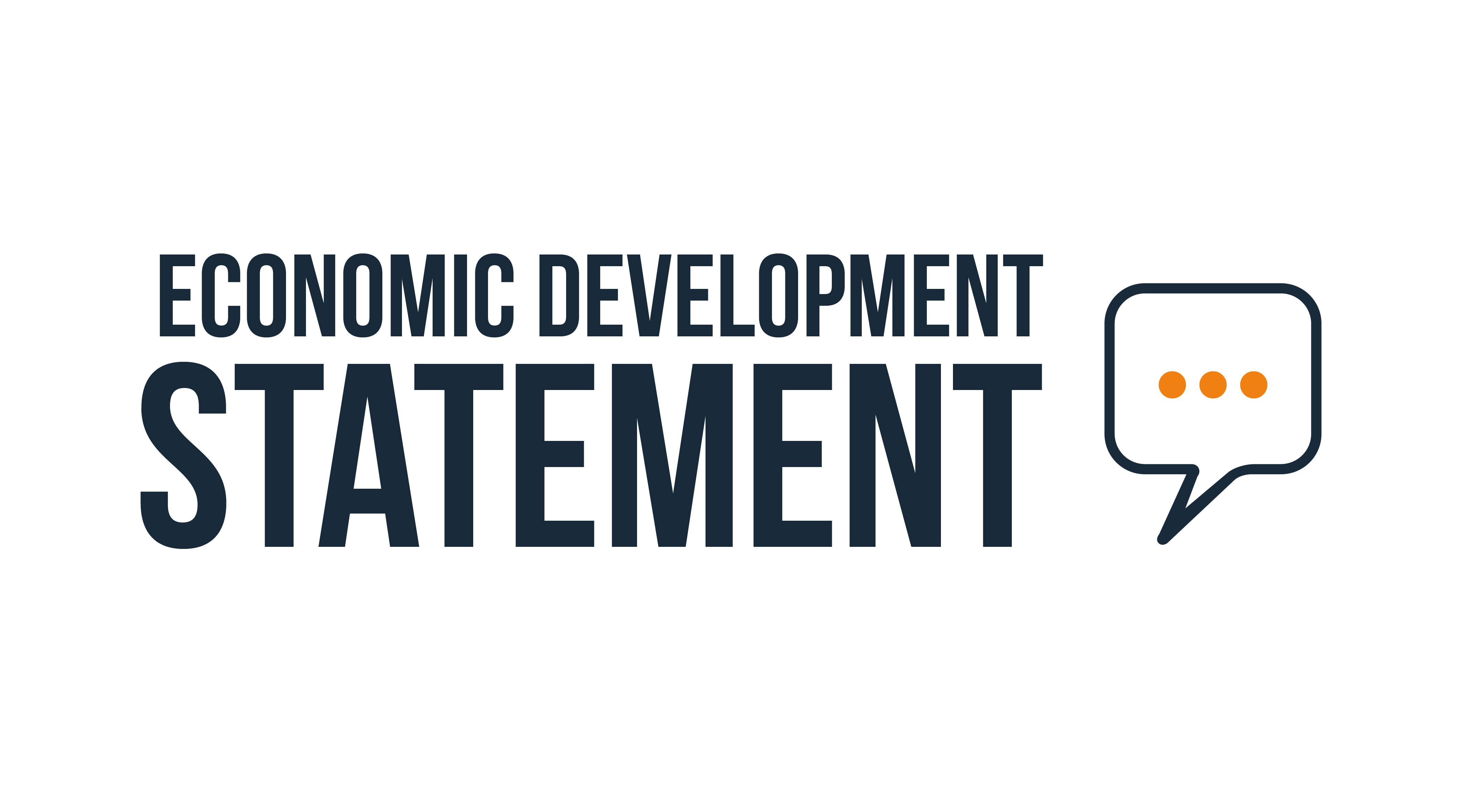 Economic Development statement